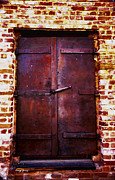 Brick Buildings Metal Prints - Secret Door Metal Print by Cheryl Young