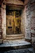 Architecture Greeting Cards Prints - Secret Doorway Print by Joan Carroll