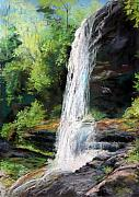 Waterfall Pastels Posters - Secret Falls Poster by Robin  Swaby