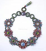Art Sale Jewelry - Secret Garden - Beaded jewelry by Ezartesa