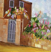 Garden Scene Paintings - Secret Garden by Riana Van Staden