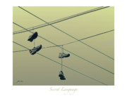 Sneakers Digital Art Prints - Secret Language Print by Pete Rems