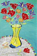 Vase Of Flowers Mixed Media Posters - Secret of Love Poster by Jennifer  Peck
