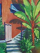 Banana Tree Posters - Secret Passage Poster by Karen Dukes