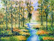 Secret Rivers Print by Zeana Romanovna