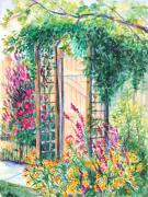 Garden Gate Prints - Secret Summer Garden Print by Patricia Allingham Carlson