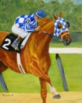 Secretariat Framed Prints - Secretariat- Belmont Framed Print by Mary Mapes