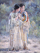 Lakota Paintings - Secrets by Judith Moore-Knapp