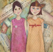Girls Mixed Media - Secrets by Kathy Cameron