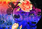Blues Eyes Prints - Secrets Print by Ramneek Narang