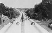 Motor Vehicles Prints - Section Of The Merritt Parkway Print by Everett