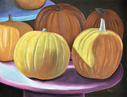 Life Pastels Acrylic Prints - Sedillo Pumpkins Acrylic Print by Jan Amiss