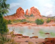 Canyons Paintings - Sedona - Oak Creek Canyon by Larry Hamilton