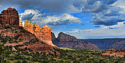 Storm Clouds Digital Art Prints - Sedona After The Storm Print by Dan Turner