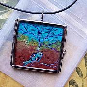 Acrylic Necklace Jewelry - Sedona Afternoon by Dana Marie
