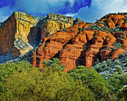 Oak Creek Digital Art Posters - Sedona Arizona - Wilderness Area Poster by Nadine and Bob Johnston