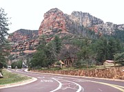 Sedona Pyrography Framed Prints - Sedona Arizona Framed Print by David Stich