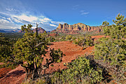 Rock Photography Framed Prints - Sedona Arizona Red Rocks Framed Print by James Steele