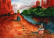 Spiritual Insight Prints - Sedona Arizona Spiritual Vortex Zen Encounter Print by Sharon Mick