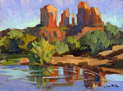 Cathedral Rock Paintings - Sedona Cathedral Rock by Diane McClary