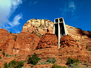 Raw Sienna Art - Sedona Chapel of the Holy Cross by Cindy Wright
