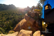 Tlaquepaque Sedona Prints - Sedona Day and Night Print by David Sunfellow