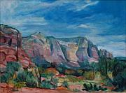 Greeting  Cards. Arizona Paintings - Sedona II by Stephanie Allison