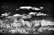 Sedona Framed Prints - Sedona in Black and White Framed Print by John Rizzuto