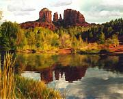 Sedona Digital Art Prints - Sedona Print by Kurt Van Wagner