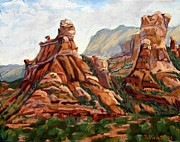 Sedona Pastels Prints - Sedona morning vista I Print by Patricia Rose Ford