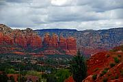 Magic Landscape Prints - Sedona Mountains Print by Susanne Van Hulst