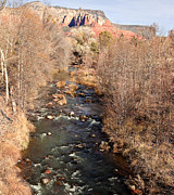 Rivers In The Fall Photo Posters - Sedona Oak Creek Poster by Ray Short