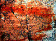 Abstract Expressionist Prints - Sedona Red Rock Abstract 2 Print by Peter Cutler