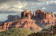Sedona. Sunset Posters - Sedona Red Rock Vista Poster by Sandra Bronstein