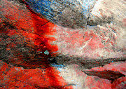 Abstract Expressionist Prints - Sedona Red Rock Zen 2 Print by Peter Cutler
