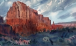 Sedona Paintings - Sedona Redrock by Donald Maier