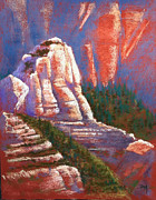 Formation Pastels Prints - Sedona Rock Print by Drusilla Montemayor