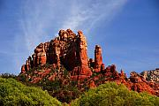 Magic Landscape Prints - Sedona Rocks Print by Susanne Van Hulst