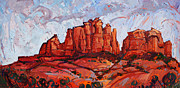 Red Rock Canyon Paintings - Sedona Sky by Erin Hanson