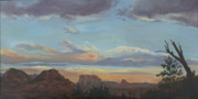 Edward Williams Art - Sedona Sunset AZ by Edward Williams