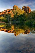 Cathedral Rock Photo Metal Prints - Sedona Sunset Metal Print by Mike  Dawson