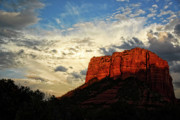 Arizona Sunset Framed Prints - Sedona Sunset  Framed Print by Saija  Lehtonen