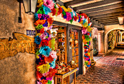 Tlaquepaque Sedona Arizona Posters - Sedona Tlaquepaque Shopping Center  Poster by Jon Berghoff