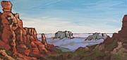 Wash Painting Originals - Sedona Vista by Sandy Tracey