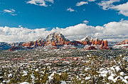 Cathedral Rock Posters - Sedona Winter Vista Poster by Jim Chamberlain