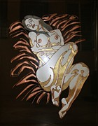 Metal Art Sculpture Posters - Seductive Lady Poster by Edmundo De Guzman