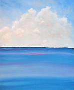Clouds Painting Framed Prints - See Framed Print by Kimby Faires