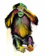 Monkey Art - See No Evil by Matt Truiano