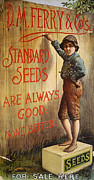 Tom Boy Framed Prints - SEED COMPANY POSTER, c1890 Framed Print by Granger