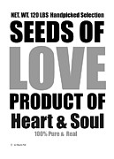 Claudia Tuli Metal Prints - Seeds Of Love white Metal Print by Claudia Tuli